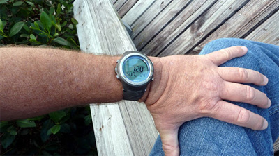 oceanic geo 2 dive computer review on wrist