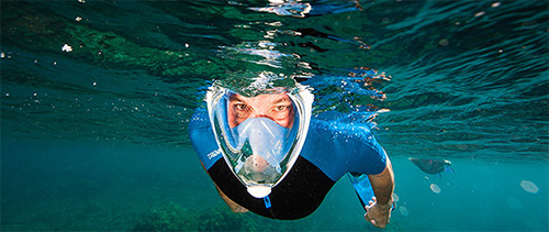 full face snorkel mask diver