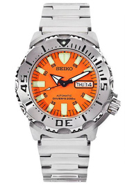 seiko mens dive watch orange monster